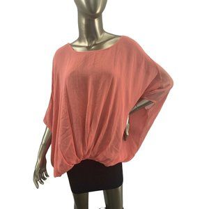 Coral Pink Top Tunic One Size NWT